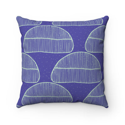 Cool Blues Square Pillow - Design Prints