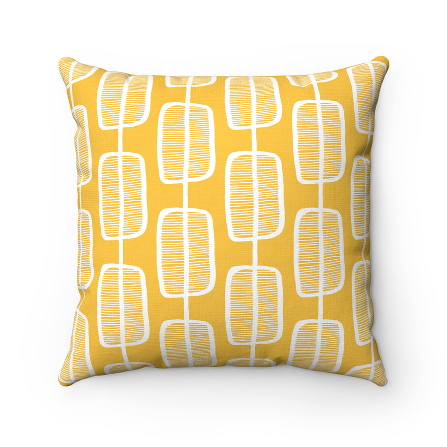 Orange Forest Square Pillow