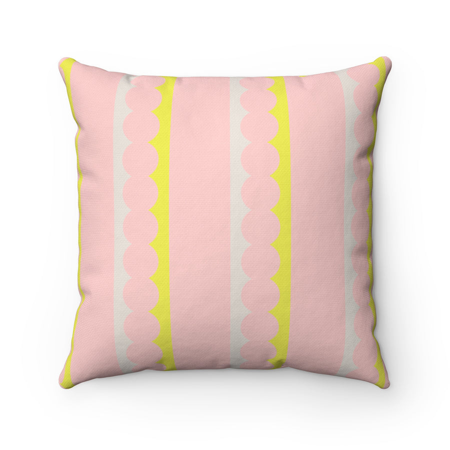 Washi Tape Spun Polyester Square Pillow Case