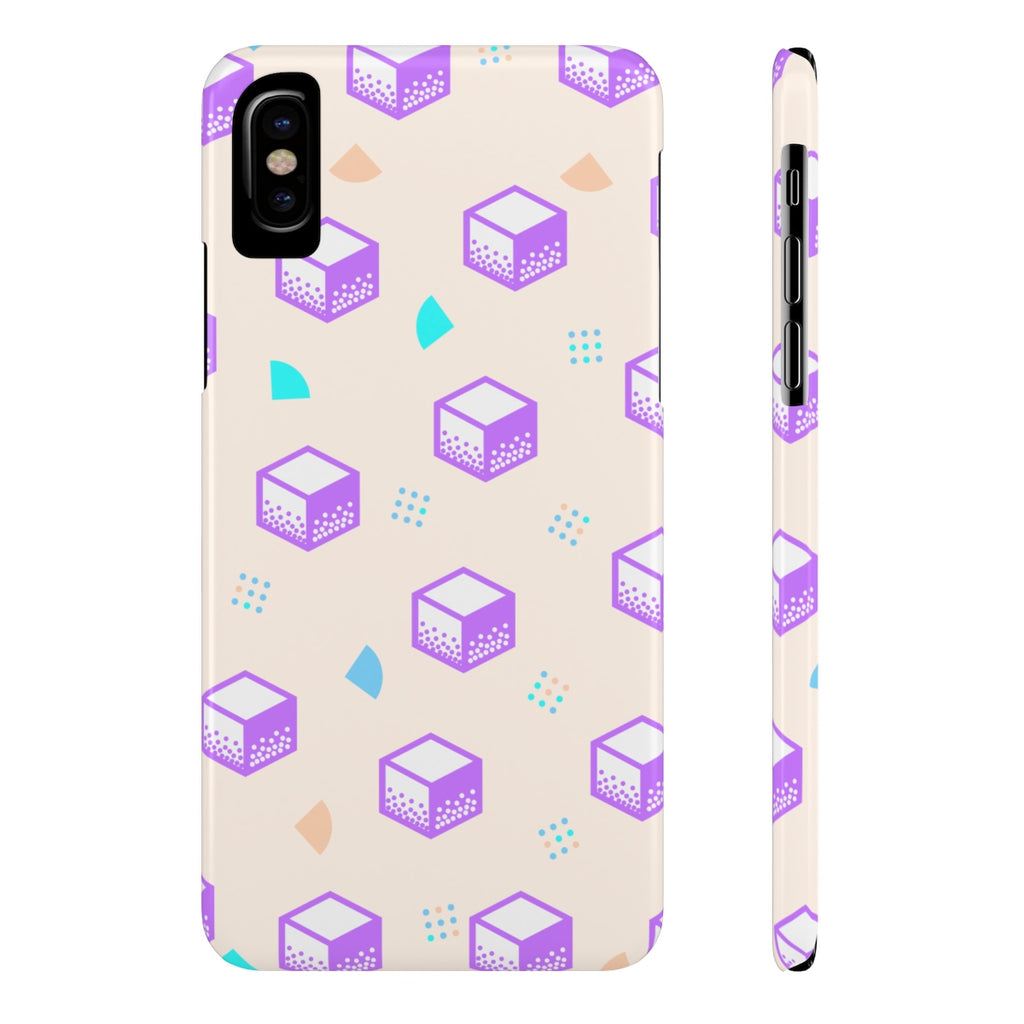Pop Purple Cube Phone Cases