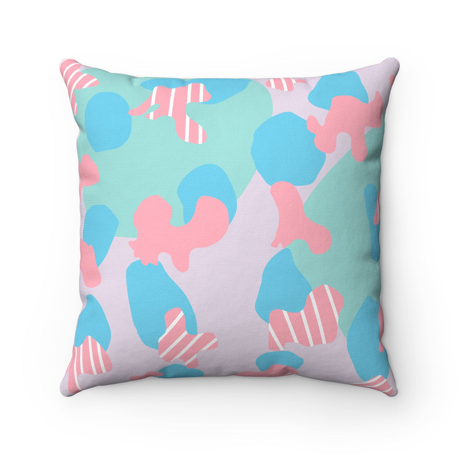 Fits Like A Puzzle Spun Polyester Square Pillow Case - Design Prints