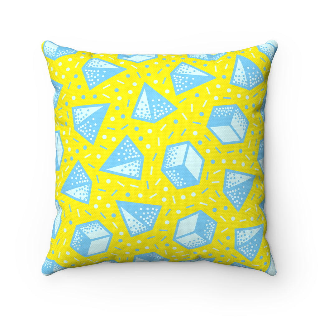 Happy Pop Shapes Square Pillow