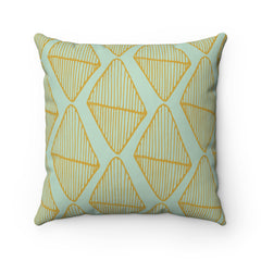 Diamond Leaves Spun Polyester Square Pillow Case
