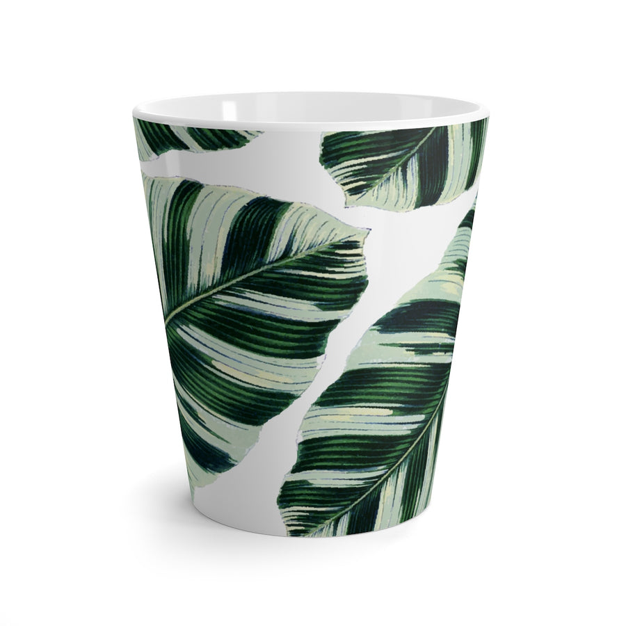 Palm Leaf Latte mug