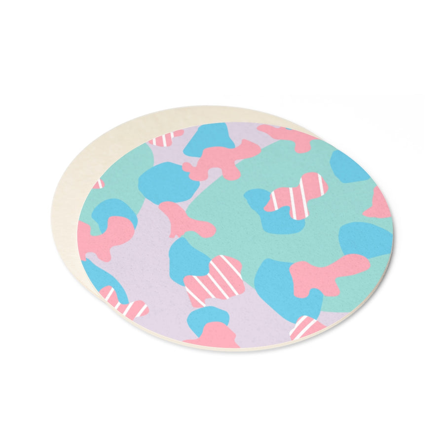 FITS LIKE A PUZZLE Round Paper Coaster Set - 6pcs