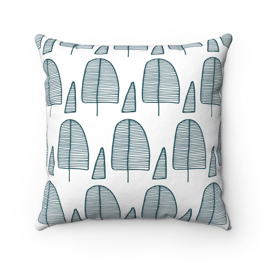 Squoval Trees Square Pillow