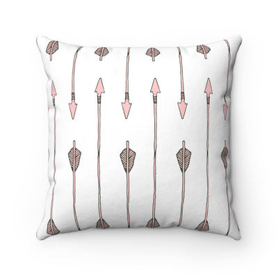 Arrow My Heart Too Square Pillow - Design Prints