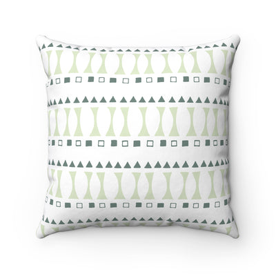Triangle And Square Spun Polyester Square Pillow Case - Design Prints