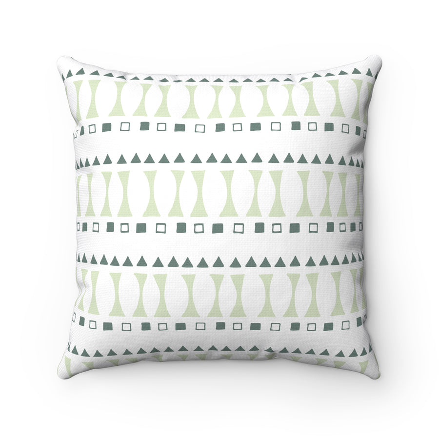 Triangle And Square Spun Polyester Square Pillow Case