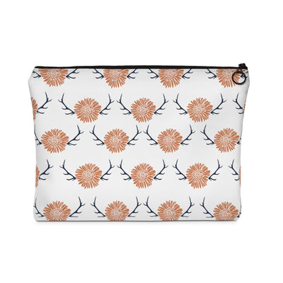 Floral Antler Carry All Pouch - Design Prints