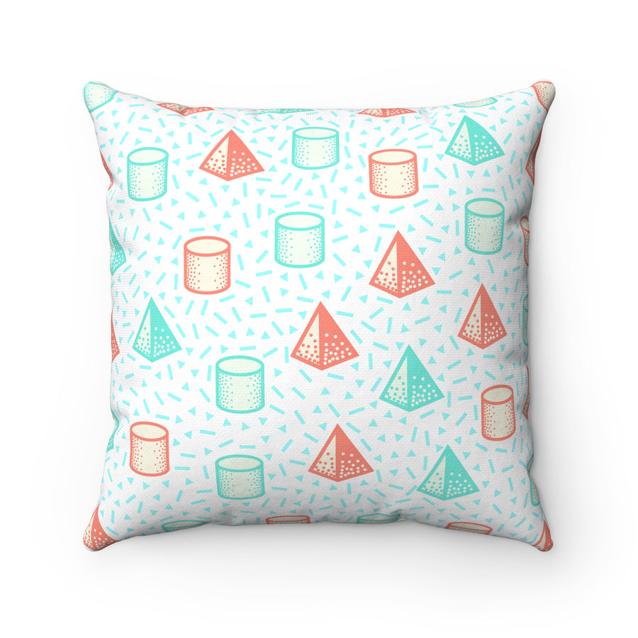 Pop Hues Spun Polyester Square Pillow Case - Design Prints