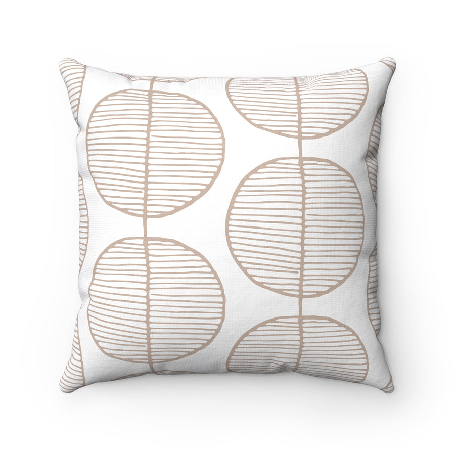 Rounded Trees Square Pillow