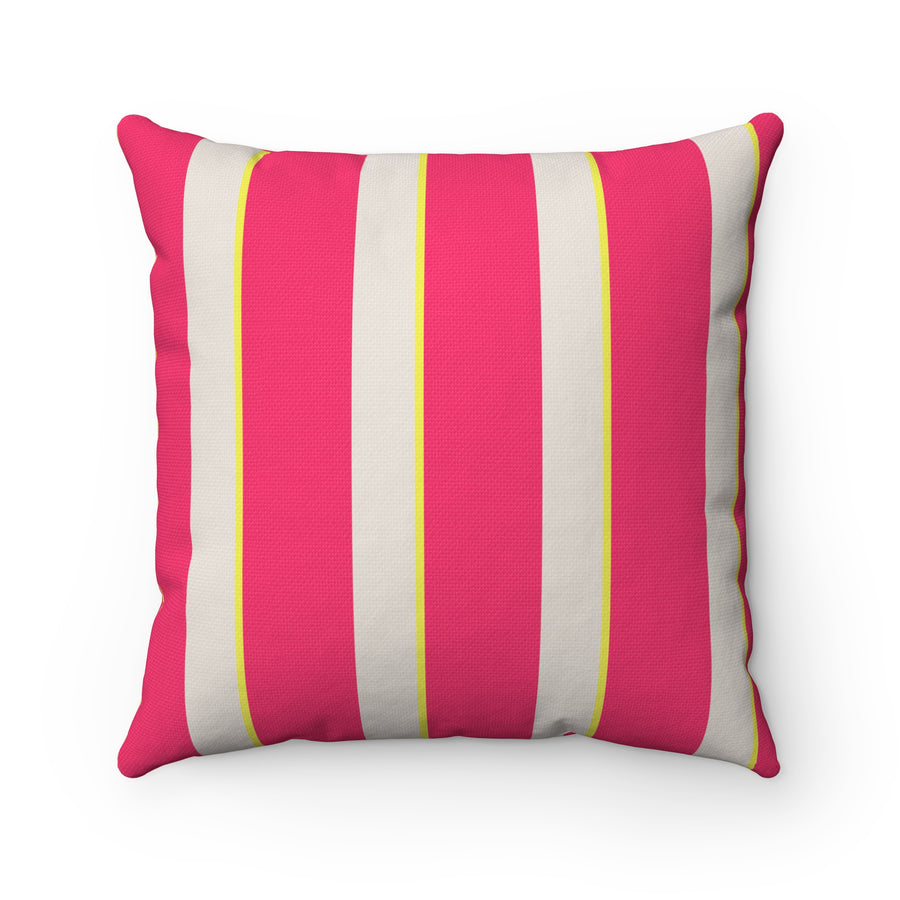 Candy Stripes Spun Polyester Square Pillow Case