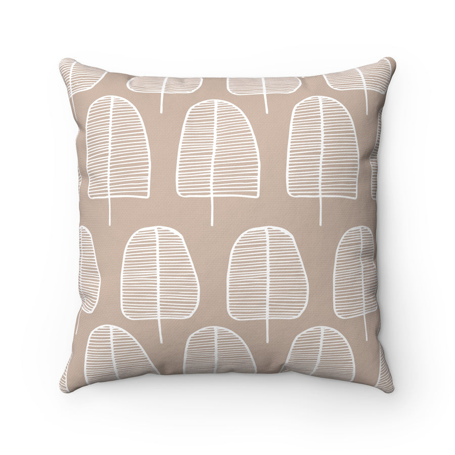 Brown Forest Square Pillow
