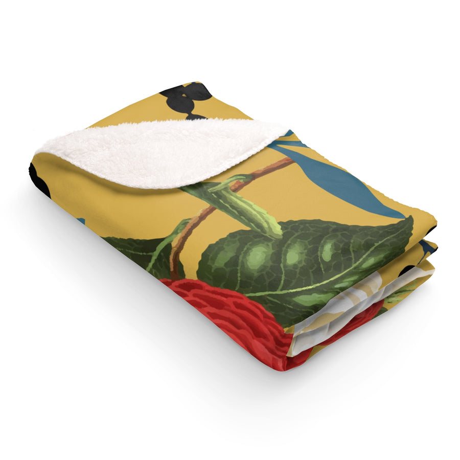 Floral Obsession Sherpa Fleece Blanket