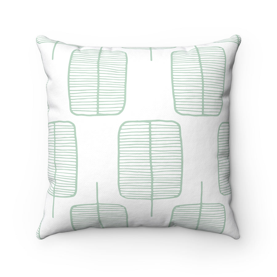 Calm Trees Spun Polyester Square Pillow Case