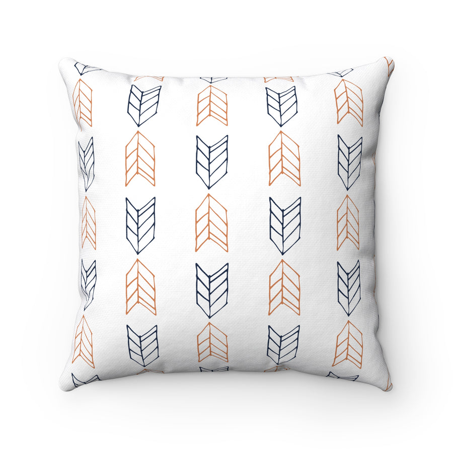 Up Down Arrows Spun Polyester Square Pillow Case - Design Prints
