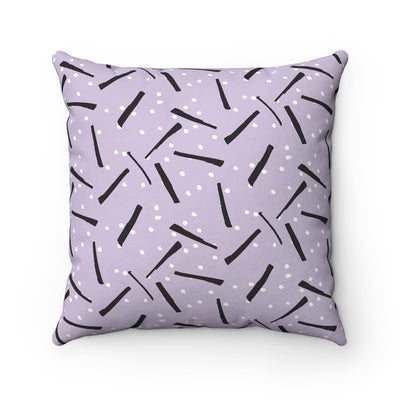 Licorice Spun Polyester Square Pillow Case