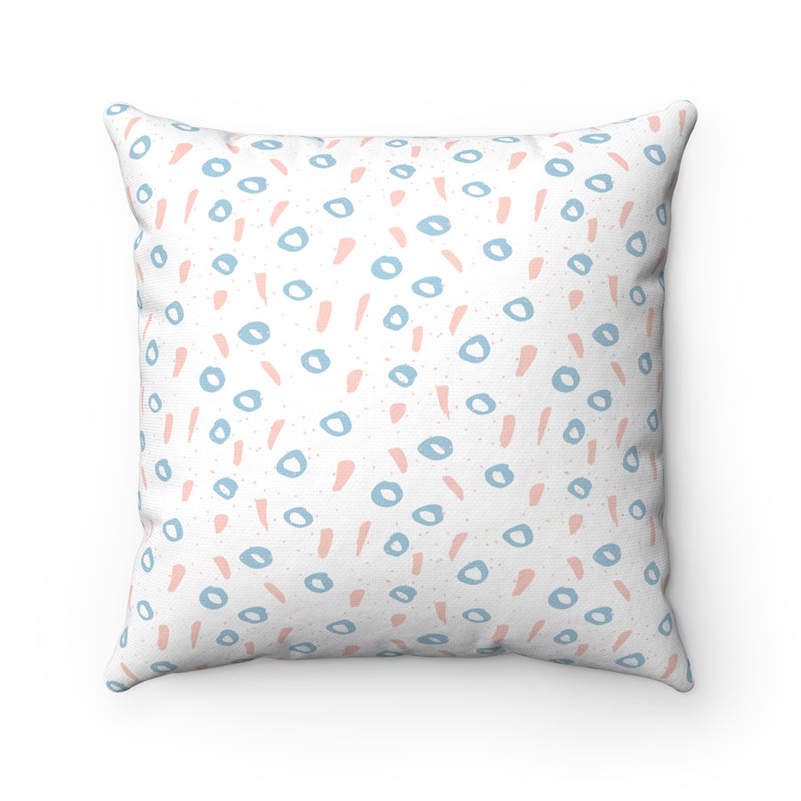 Of One's And O's Spun Polyester Square Pillow Case