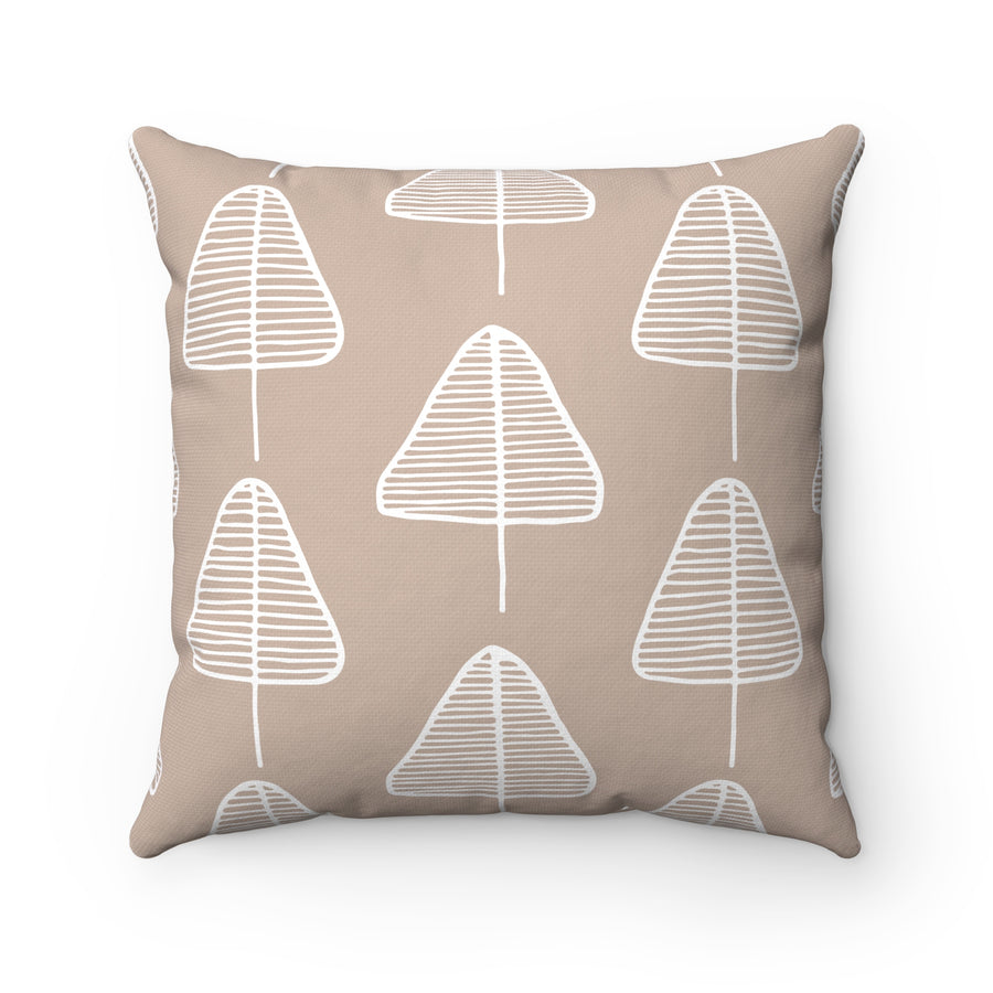 Calm Cone Trees Spun Polyester Square Pillow Case