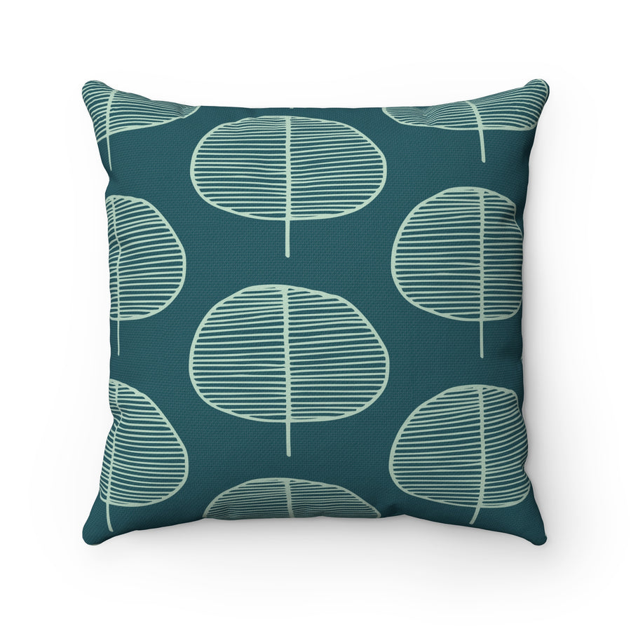 Oval Garden Spun Polyester Square Pillow Case