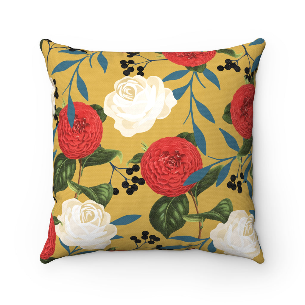 Floral Obsession Spun Polyester Square Pillow Case