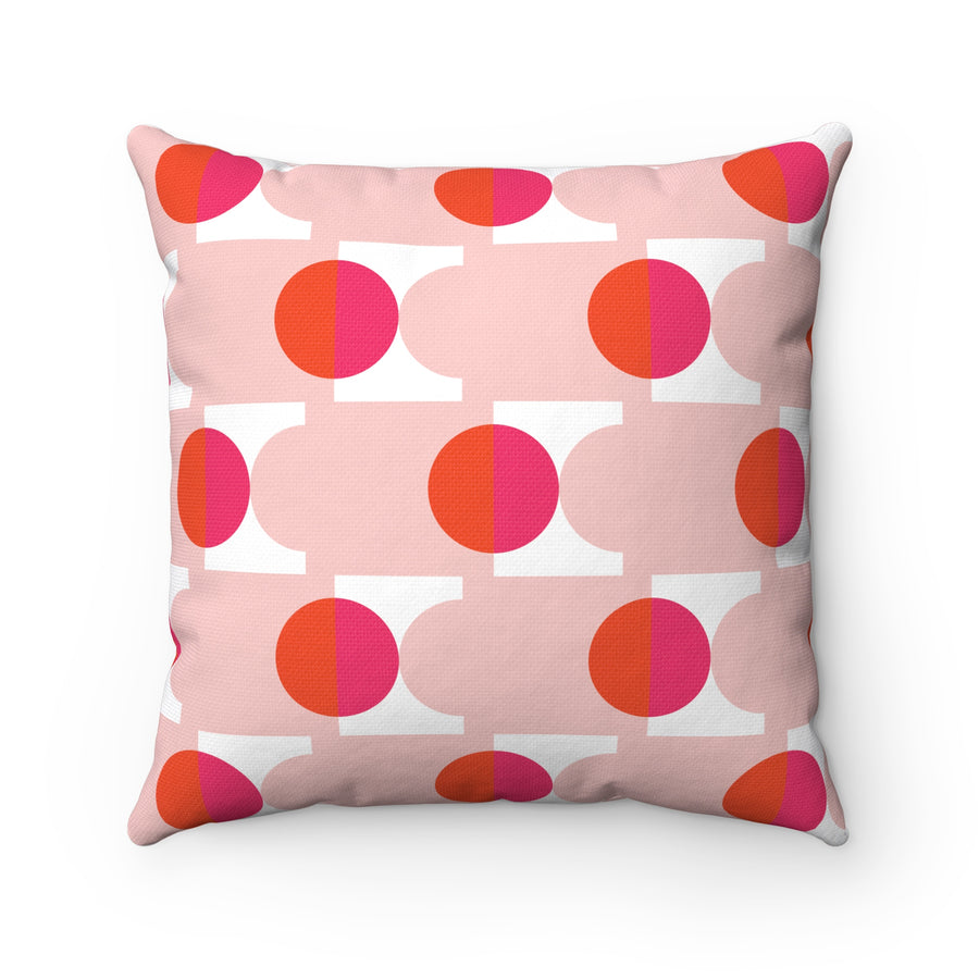 Warm Planets Spun Polyester Square Pillow Case