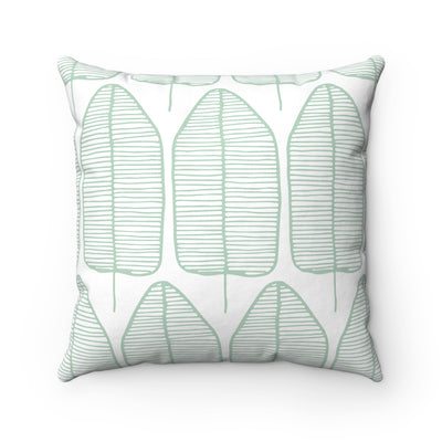 Leafy Spun Polyester Square Pillow Case - Design Prints