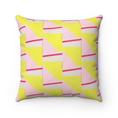 Staircase Of Sunshine Spun Polyester Square Pillow Case - Design Prints