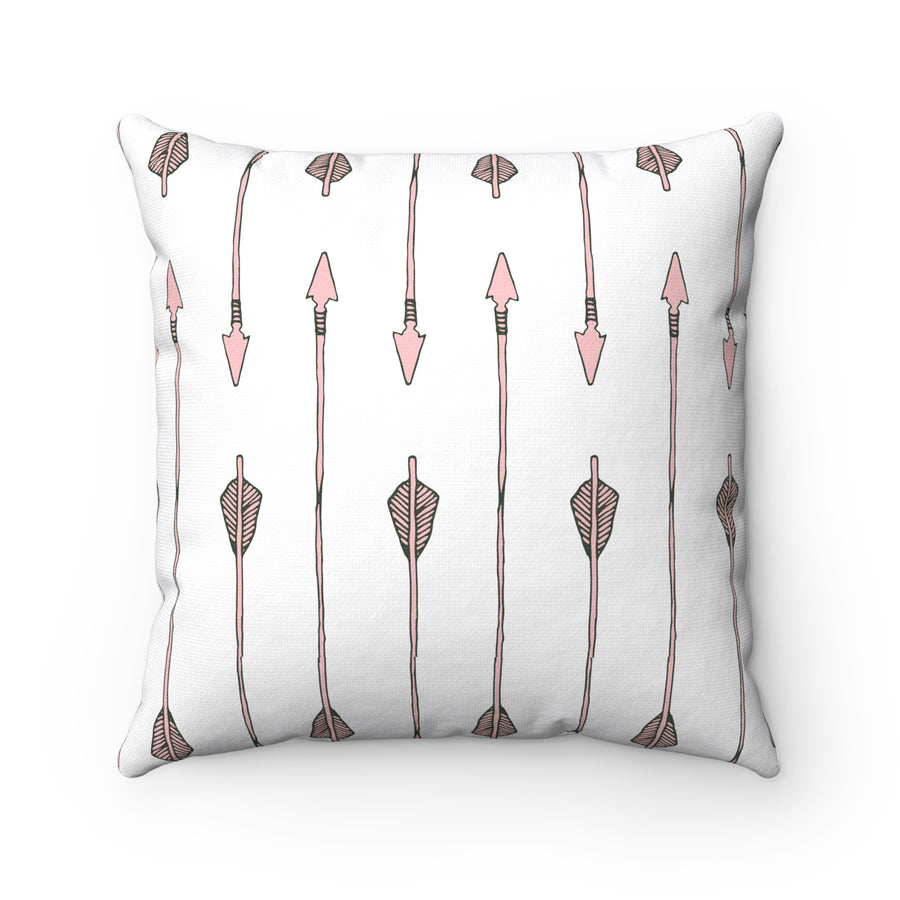 Arrow My Heart Too Square Pillow