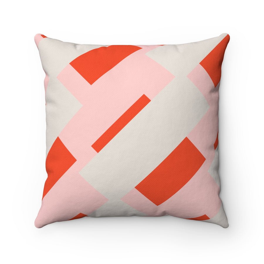 Candy Wrapper Spun Polyester Square Pillow Case