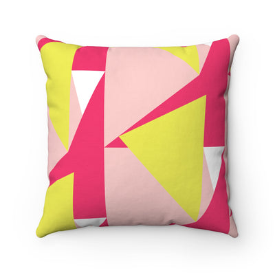 Colour Me Bright Spun Polyester Square Pillow Case - Design Prints