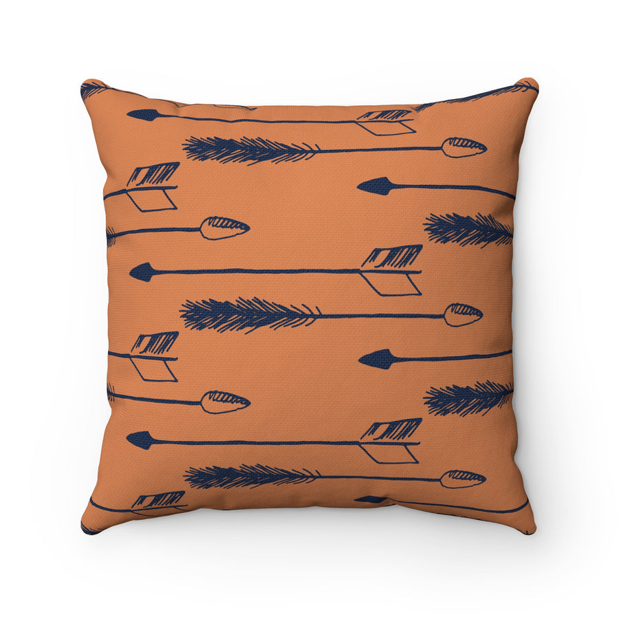 Tawny Arrows Spun Polyester Square Pillow Case