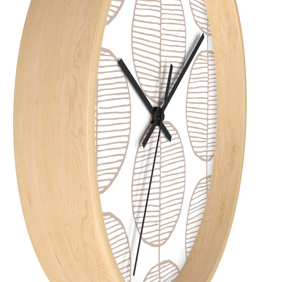 Rounded Trees Wall clock