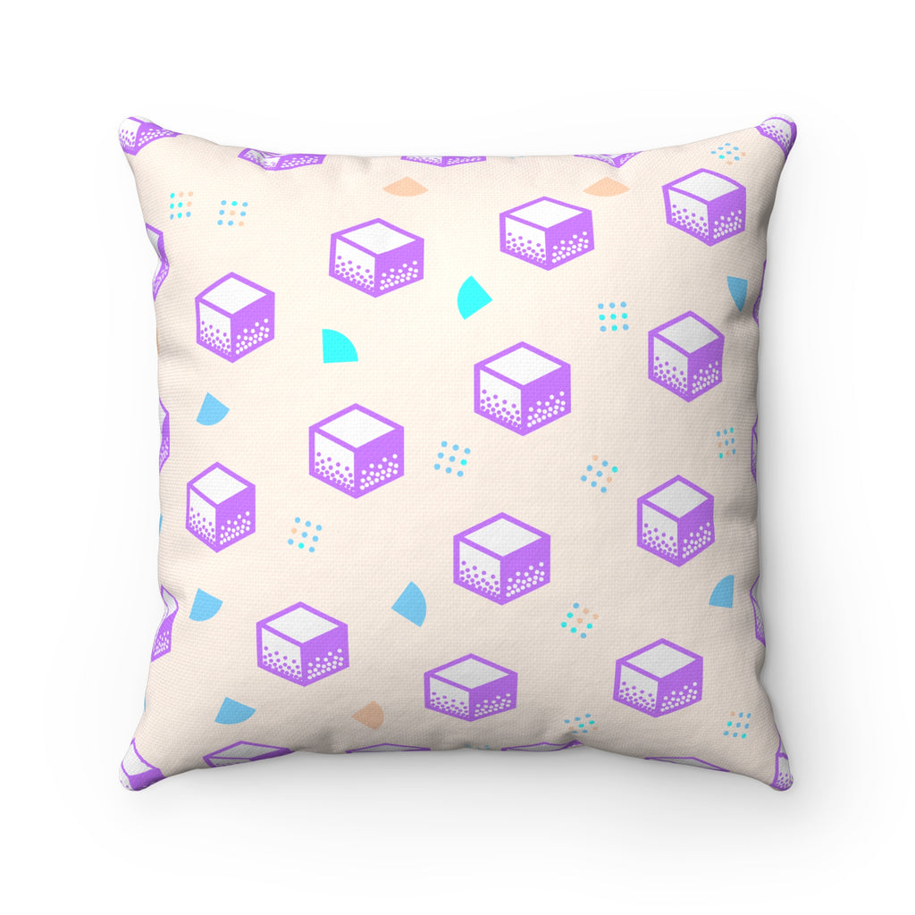 Pop Purple Square Pillow