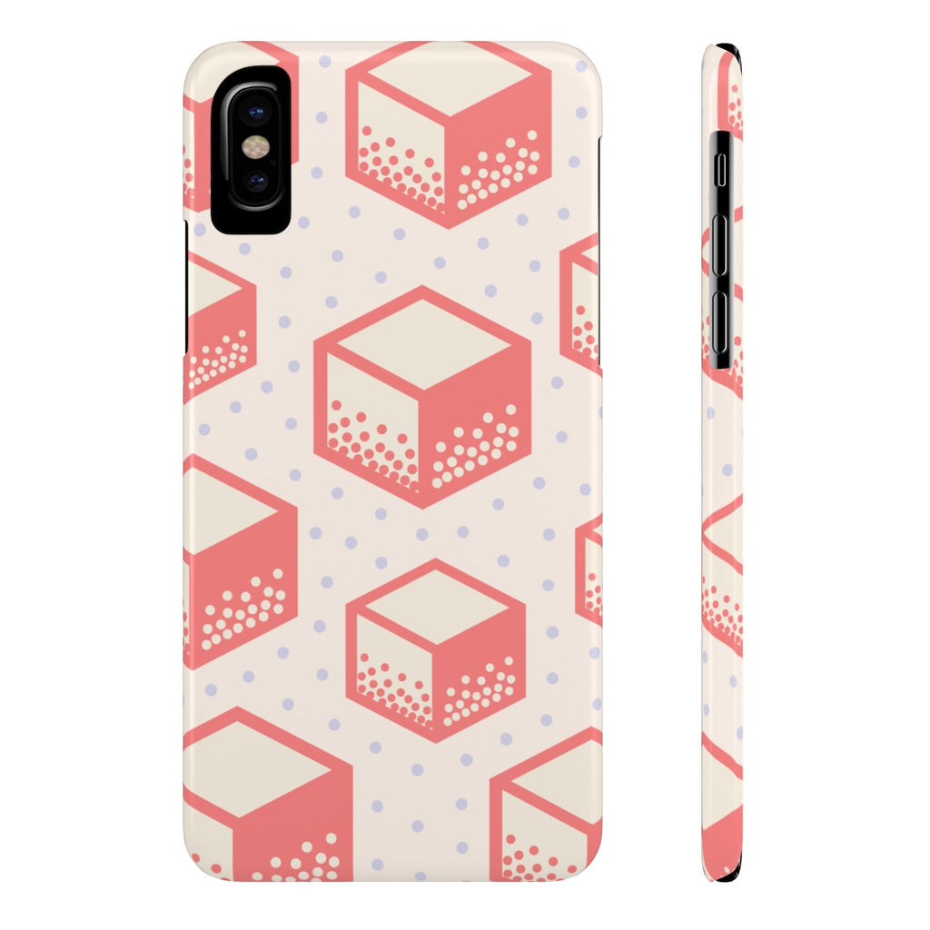 Pop Pink Cube Phone Cases