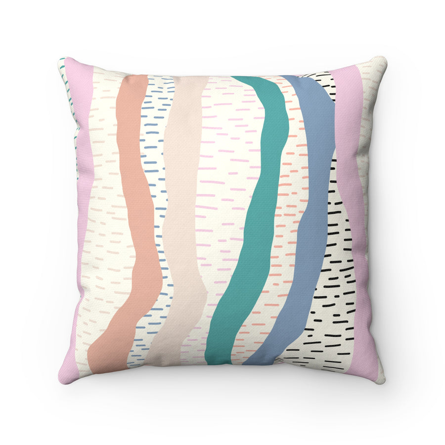 Prismatic Rain Spun Polyester Square Pillow Case - Design Prints