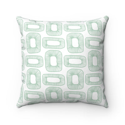 Plant Cells Spun Polyester Square Pillow Case - Design Prints
