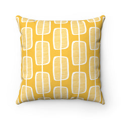 Orange Forest Spun Polyester Square Pillow Case
