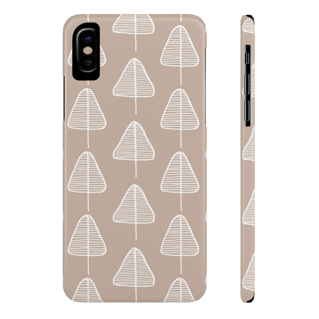Calm Cone Trees Phone Cases