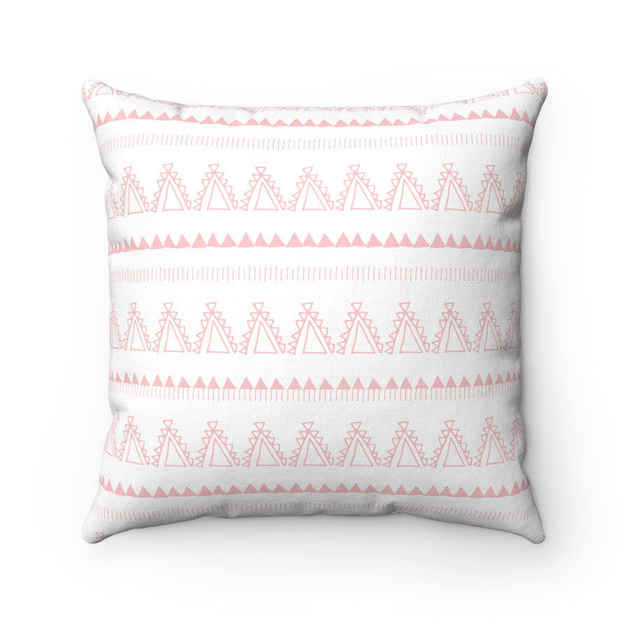 Whimsical Tent Spun Polyester Square Pillow Case
