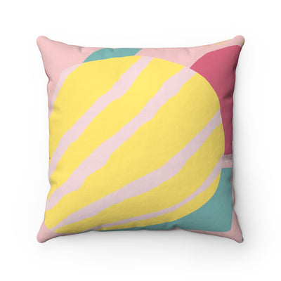 Tennis Ball Spun Polyester Square Pillow Case - Design Prints