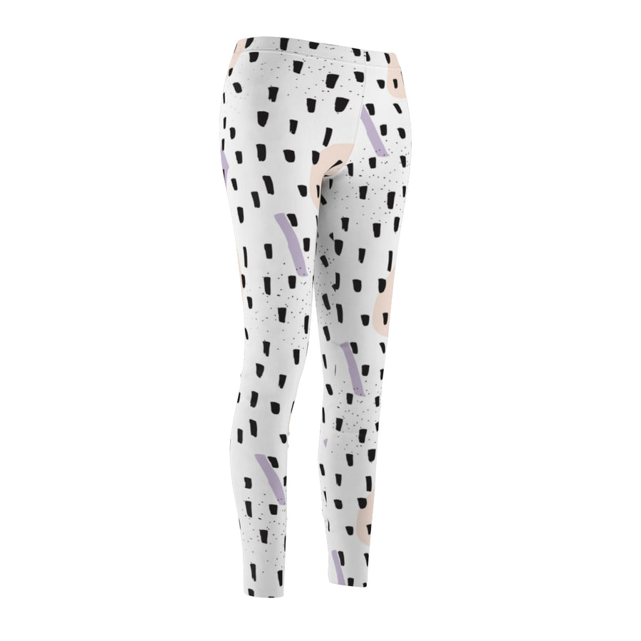 Black Sprinkles Women's Cut & Sew Casual Leggings