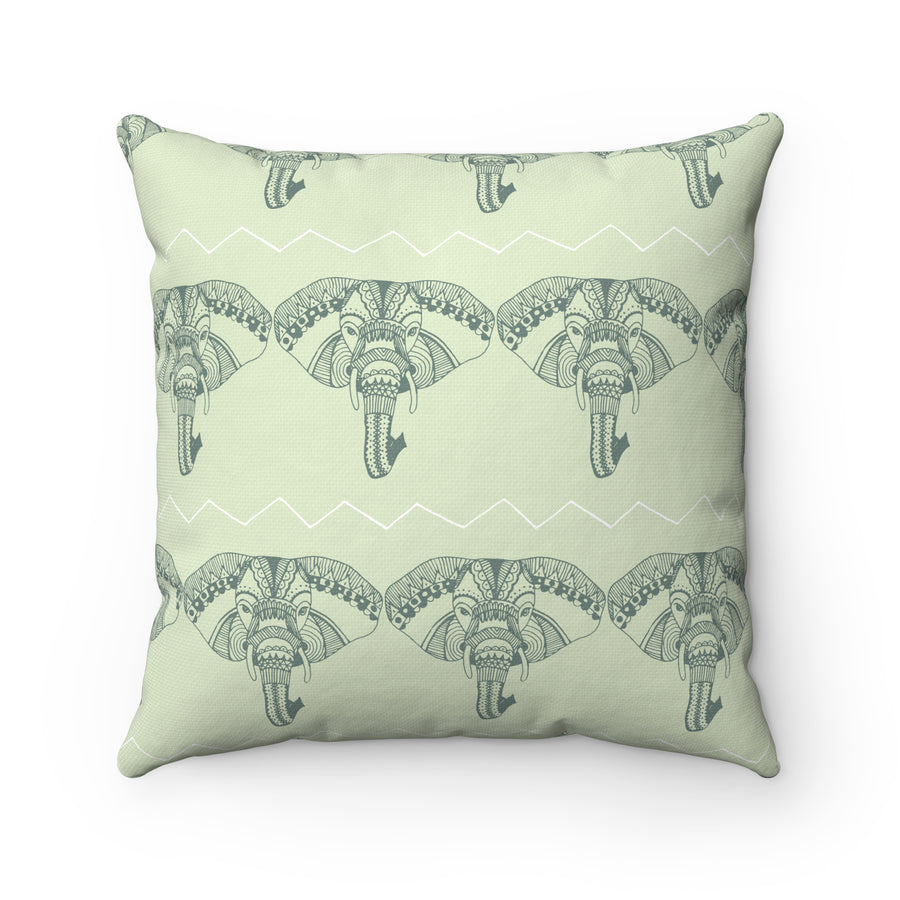 Boho Elephant Spun Polyester Square Pillow Case
