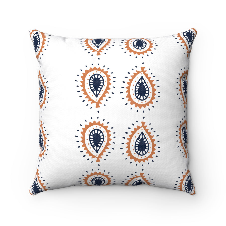 Boho Eyedrop Spun Polyester Square Pillow Case