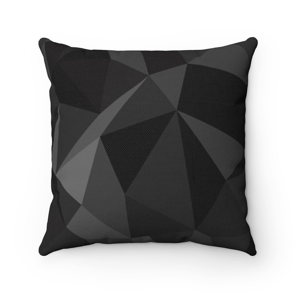Black Chrome Spun Polyester Square Pillow Case