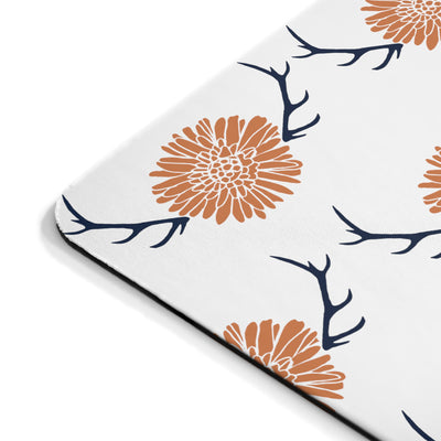 Floral Antler Mousepad - Design Prints