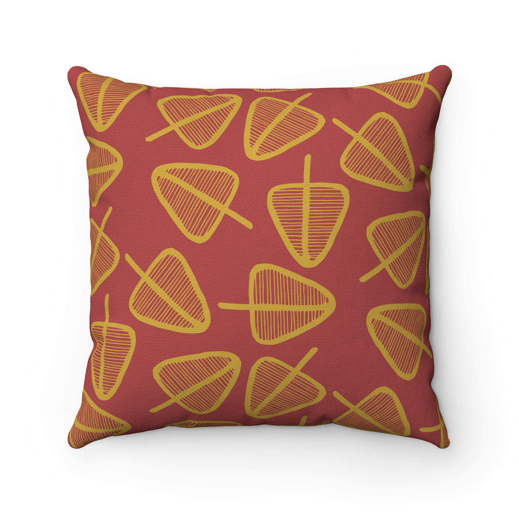 Cone Trees Spun Polyester Square Pillow Case