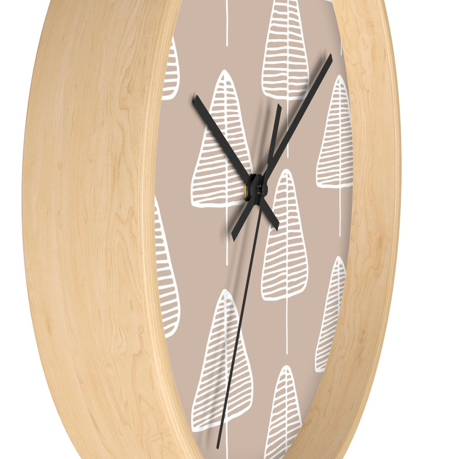 Calm Cone Trees Wall clock