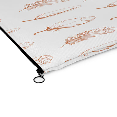 Boho Feather Carry All Pouch - Design Prints